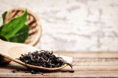 Primer del té negro seco Fotografía de archivo libre de regalías