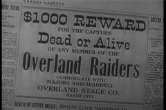 Primer del título muerto o vivo Wanted almacen de metraje de vídeo