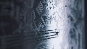 Primer del tablero del ordenador Microchip del dispositivo de alta tecnología digital almacen de video