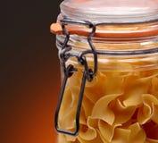 Primer del tarro de las pastas Imagen de archivo libre de regalías