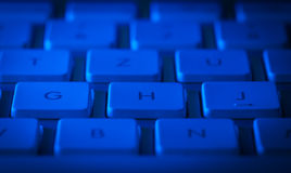 Primer del teclado con el espacio de la copia Foto de archivo