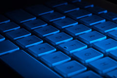Primer del teclado con el espacio de la copia Fotos de archivo libres de regalías