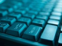 Primer del teclado de la computadora portátil Foto de archivo libre de regalías