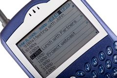 Primer del teléfono celular de la zarzamora Fotos de archivo