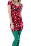 Primer del torso de la mujer joven que lleva a Mini Dress Imagen de archivo libre de regalías