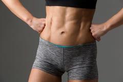 Primer del torso muscular de la mujer Foto de archivo