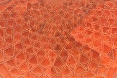 Primer del tubo principal de Taj Mahal adornado con el modelo geométrico en piedra roja Imagen de archivo libre de regalías