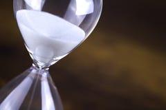 Primer del vidrio de la hora Fotos de archivo libres de regalías
