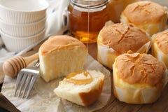 Primer delicioso de la vida del pastel de queso de la miel del postre dulce suave de los pasteles aún Fotos de archivo