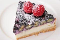 Primer delicioso del postre de la torta Imagen de archivo
