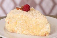 Primer delicioso del postre de la torta Foto de archivo