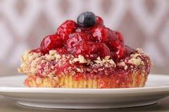 Primer delicioso del postre de la torta Foto de archivo libre de regalías