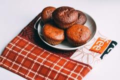 Primer delicioso hecho en casa de los molletes del chocolate, horizontal Foto de archivo