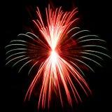 Primer detallado del fuego artificial foto de archivo libre de regalías