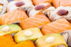 Primer determinado del sushi Imágenes de archivo libres de regalías