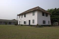 Primer edificio de la historia en Nigeria foto de archivo