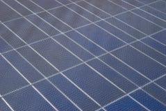 Primer en de célula solar Fotografía de archivo libre de regalías