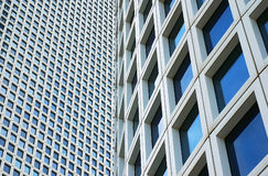 Primer en dos rascacielos foto de archivo
