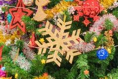 primer en el árbol de navidad Fotos de archivo
