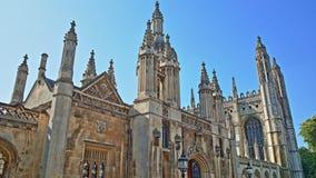 Primer en los chapiteles de la capilla gótica de la universidad del ` s del rey, Universidad de Cambridge Fotos de archivo