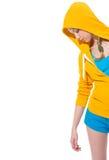 Primer en muchacha moderna del adolescente en suéter Imagenes de archivo