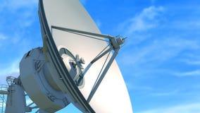 Primer enorme del telescopio de radio stock de ilustración