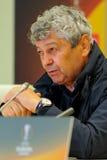 Primer entrenador de FC Shakhtar Mircea Lucescu Imagenes de archivo