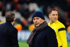 Primer entrenador de Mircea Lucescu del FC Shakhtar Donetsk Foto de archivo
