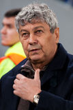 Primer entrenador del FC Shakhtar Donetsk Mircea Lucescu Imágenes de archivo libres de regalías