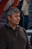 Primer entrenador del FC Shakhtar Donetsk Mircea Lucescu Foto de archivo
