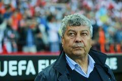 Primer entrenador Mircea Lucescu de FC Shakhtar Imagen de archivo libre de regalías