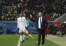 Primer entrenador Rafael Benitez del Real Madrid Fotos de archivo
