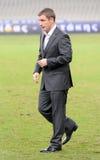 Primer entrenador Victor Goncharenko de Borisov de la CONTIENDA de FC Imagen de archivo