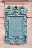 Primer epitafio alemán del parlamento - la iglesia de San Pablo Foto de archivo libre de regalías