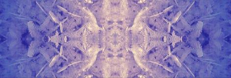 Primer escarchado frío del fondo de los cristales de la nieve del hielo foto de archivo libre de regalías