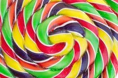 Primer espiral del caramelo del color Fotografía de archivo libre de regalías