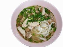 Primer, estilo tradicional vietnamita de la comida: Arroz de las chuletas de cerdo del cerdo Foto de archivo libre de regalías