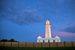 Primer faro de Macquarie en Australia, Sydney   Imagenes de archivo