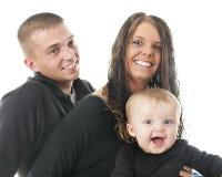 Primer feliz de la familia Foto de archivo libre de regalías