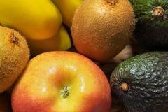 Primer fresco de las frutas y verduras Foto del fondo foto de archivo libre de regalías