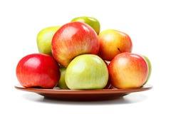Primer fresco verde y rojo de las manzanas Fotos de archivo libres de regalías