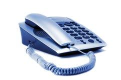 Primer Gray Telephone Isolated On White Imagenes de archivo