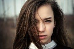 Primer hermoso de la cara del adolescente Imagen de archivo libre de regalías
