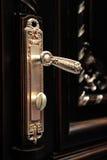 Primer hermoso de la maneta de puerta fotografía de archivo