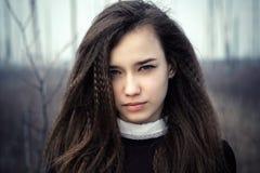 Primer hermoso del adolescente del retrato Imagenes de archivo