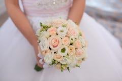 Primer hermoso del ramo de la boda fotos de archivo libres de regalías