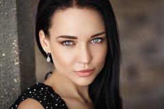 Primer hermoso del retrato de la muchacha Imagen de archivo libre de regalías