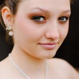 Primer hermoso del tiro de la pista de la mujer joven Imagen de archivo libre de regalías