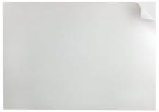 Primer horizontal aislado fondo del espacio de la copia del rizo de la página blanca Foto de archivo
