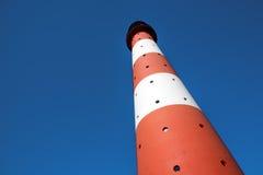 Faro horizontal Westerhever Fotografía de archivo libre de regalías